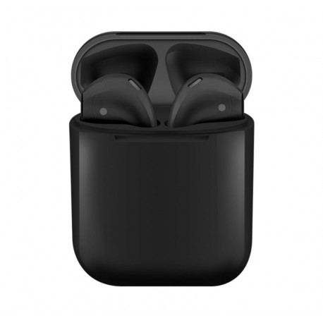 Casti i12 TWS Techstar®, Wireless, Bluetooth 5.0, Android, iOS, Negru