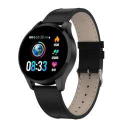 Ceas Smartwatch Techstar® Q9, Bluetooth 4.0, Waterproof IP67, IPS Touch HD, Potrivit Fitness, Android, iOS, Negru