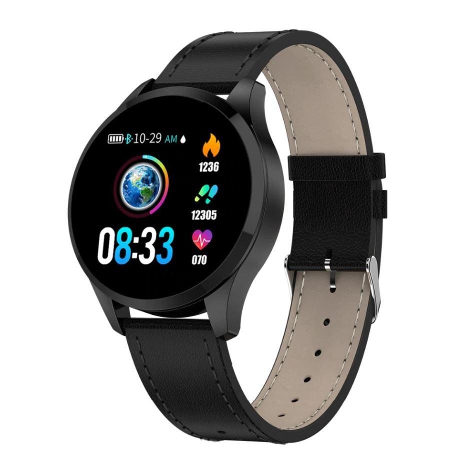 Ceas Smartwatch Techstar® Q9, Bluetooth 4.0, Waterproof IP65, IPS Touch HD, Potrivit Fitness, Android, iOS, Negru poza 2021