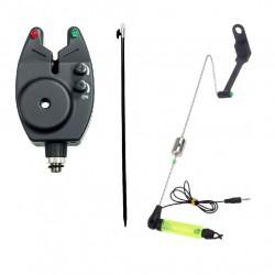 Senzor Rainbow pentru pescuit si swinger cu tija, contragreutate L, locas pentru starlet si led puternic