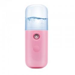 Umidificator pentru Ten Techstar® Nano Mist Roz Mini, Pulverizare Abur, Capacitate 30ml