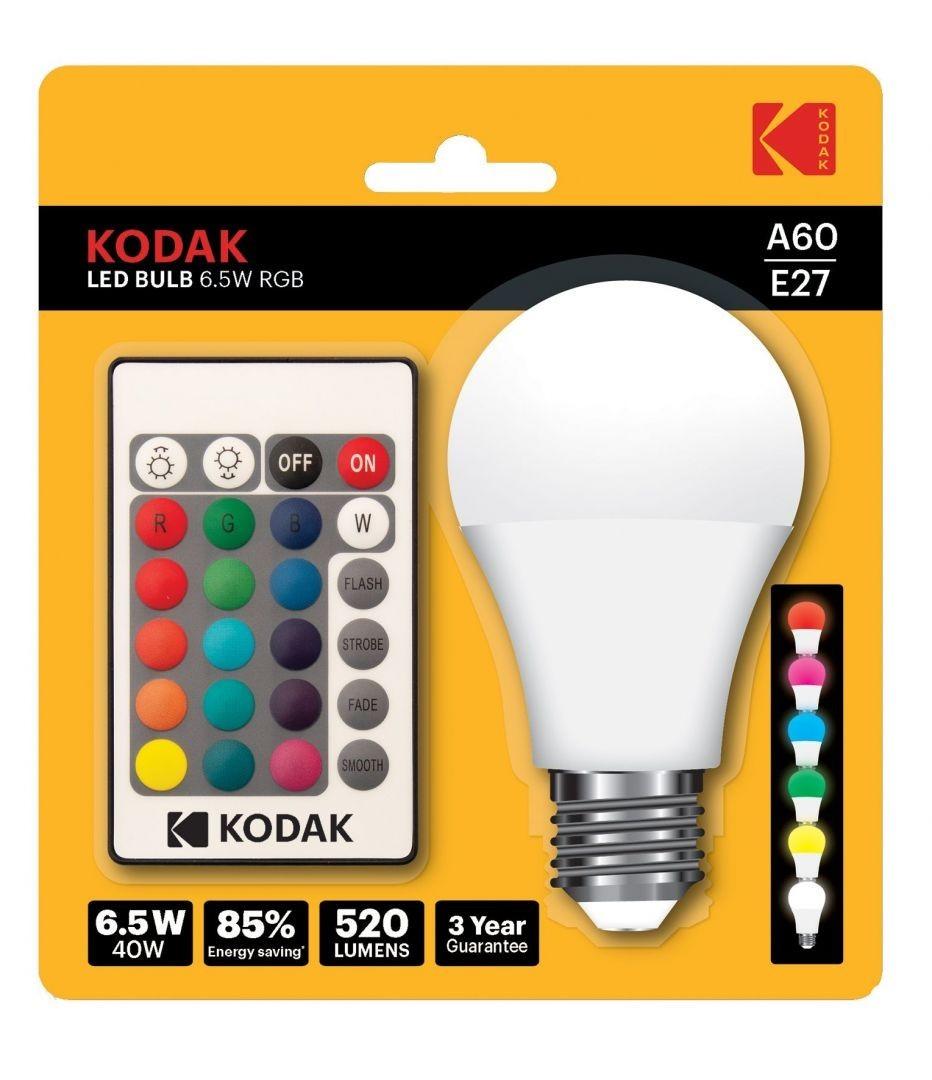 Bec LED RGB cu telecomanda Kodak imagine techstar.ro 2021