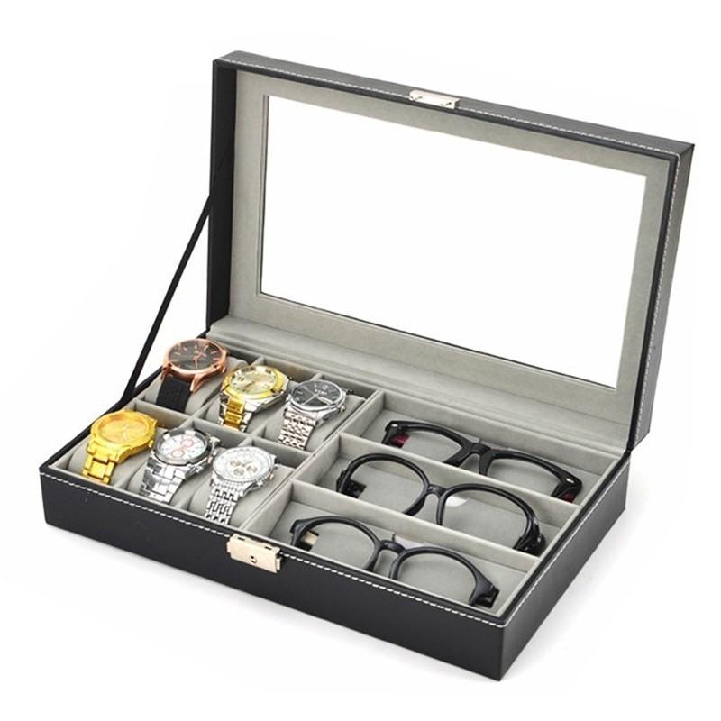 Cutie neagra pentru depozitare ceasuri si ochelari imagine