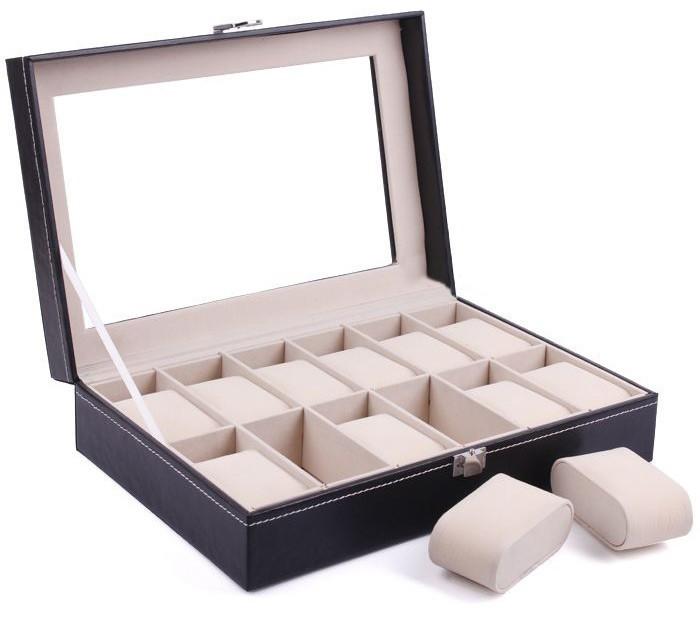 Cutie pentru 12 ceasuri din piele ecologica imagine techstar.ro 2021