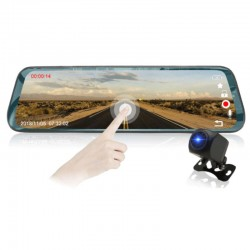 Camera Auto Dubla Oglinda iUni Dash LP01, WDR, Touchscreen, Display 9.66 inch, FullHD, Night Vision, 170 grade