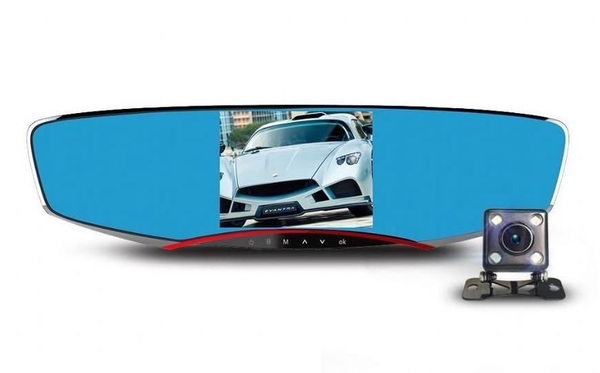 Camera Auto Dubla iUni Dash M80, Full HD, display 4.3 inch, 170 grade, by Anytek
