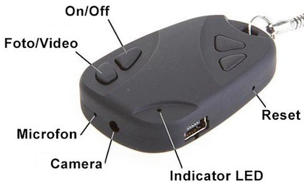 Breloc Spion iUni SpyCam 808, Inregistrare Audio-Video imagine techstar.ro 2021