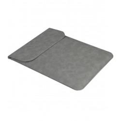 Husa de protectie si transport laptop iUni L20, Slim Magnetic, 15 inch, Gri