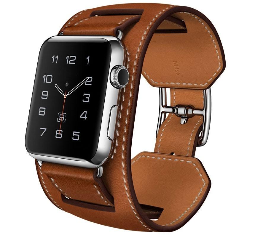Curea pentru Apple Watch 40 mm piele iUni Cuff Maro