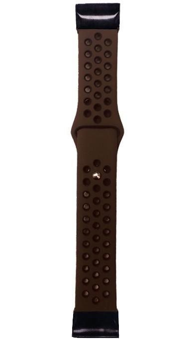 Curea Ceas Smartwatch Garmin Fenix 3 / Fenix 5x, 26 Mm Iuni Silicon Sport Maro-negru
