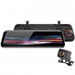 Camera Auto Dubla Oglinda iUni Dash T11+, Touchscreen, Display 9.66 inch, Full HD, Night Vision, WDR, 170 grad