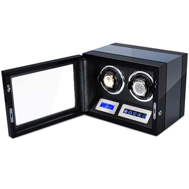 Cutie pentru intors ceasuri automatice iUni Luxury Watch Winder 2, Carbon imagine techstar.ro 2021