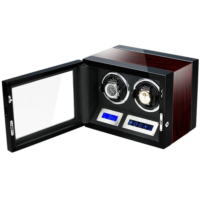 Cutie pentru intors ceasuri automatice iUni Luxury Watch Winder 2, Mahon imagine techstar.ro 2021
