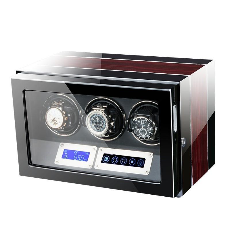 Cutie pentru intors ceasuri automatice iUni Luxury Watch Winder 3, Mahon imagine techstar.ro 2021