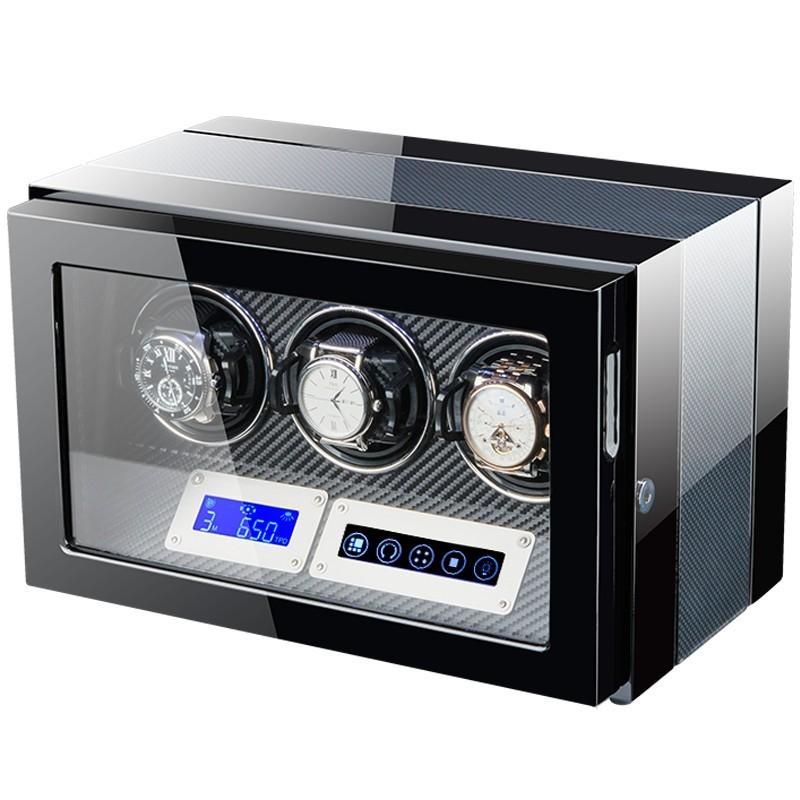 Cutie pentru intors ceasuri automatice iUni Luxury Watch Winder 3, Carbon imagine techstar.ro 2021
