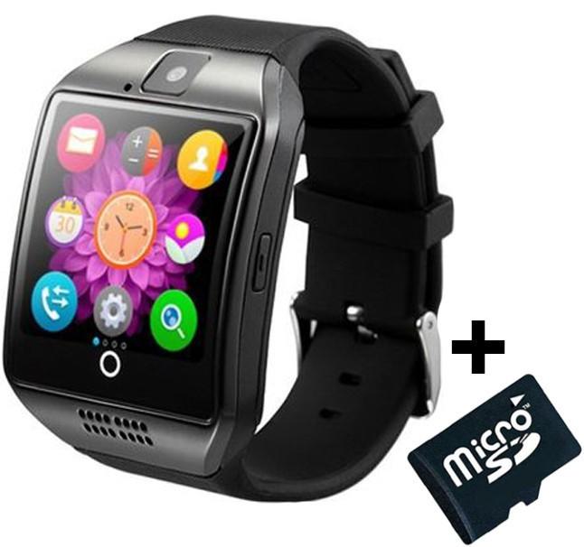 Smartwatch cu telefon iUni Q18, Camera, BT, 1,5 inch, Negru + Card MicroSD 4GB Cadou imagine techstar.ro 2021