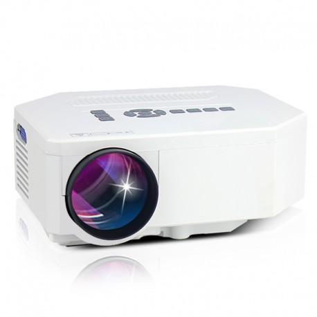 VideoProiector LED Techstar BT300 White cu conexiune HDMI USB si SD