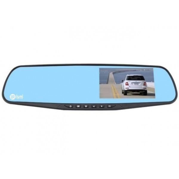 Camera Auto iUni Dash 810 Oglinda, Full HD, Night Vision, Foto, Playback, Senzor G