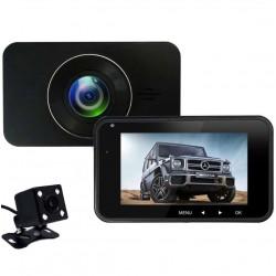 Camera Auto Dubla iUni Dash 270, Full HD, Senzor G, LCD 2,7 Inch, Detectare miscare, Night vision