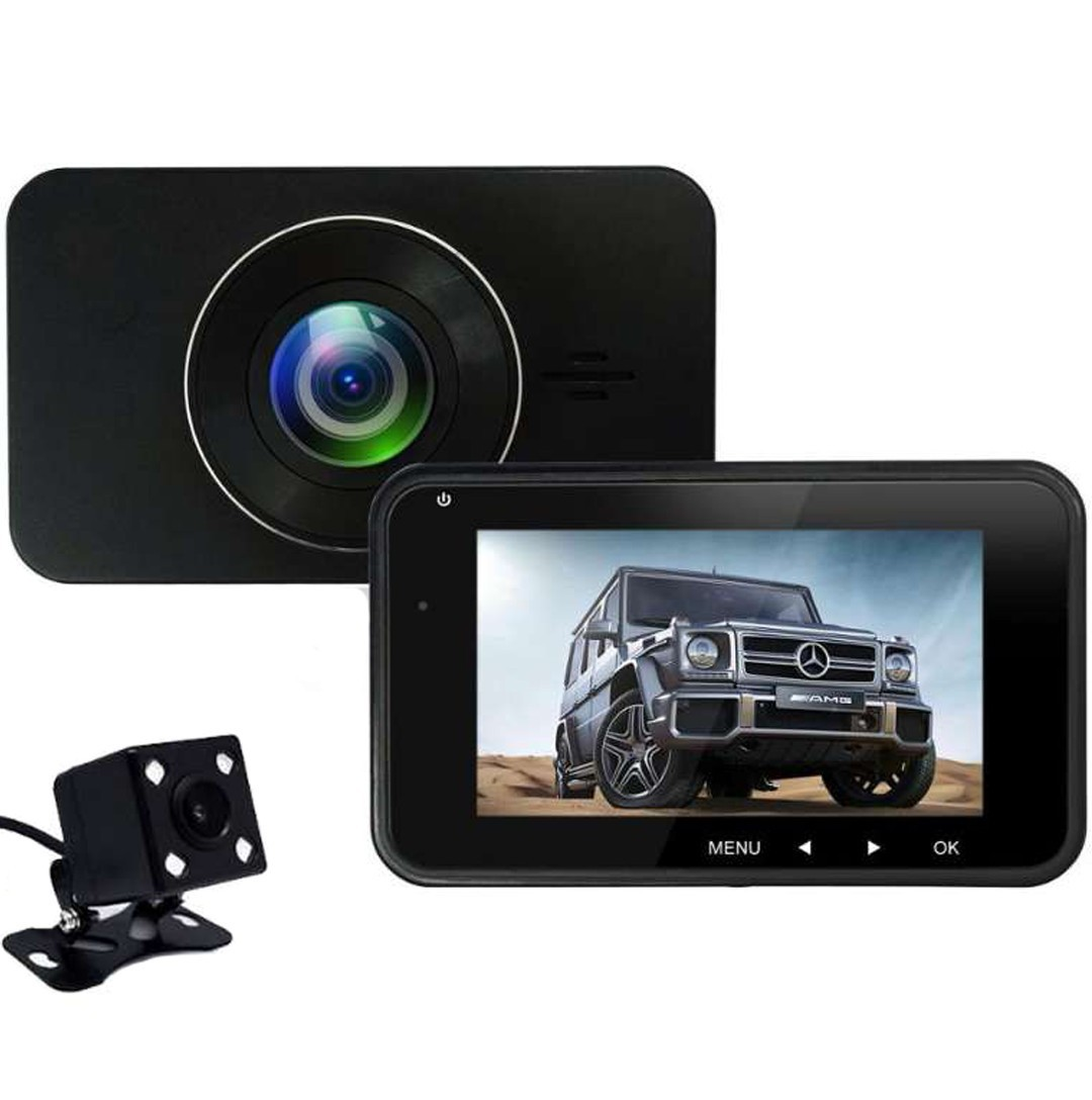 Camera Auto Dubla iUni Dash 270, Full HD, Senzor G, LCD 2,7 Inch, Detectare miscare, Night vision imagine techstar.ro 2021