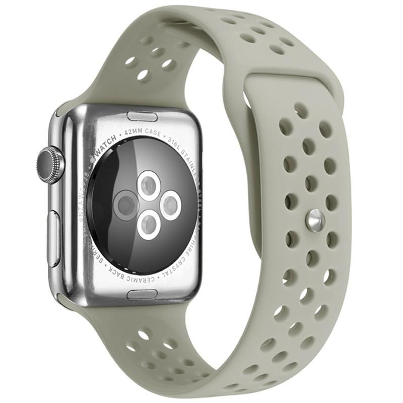 Curea pentru Apple Watch 42 mm Silicon Sport iUni Grey