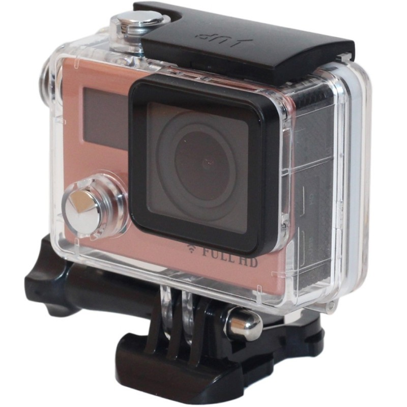 Camera Sport iUni Dare F88, Full HD 1080P, 12M, Waterproof, Rose Gold imagine techstar.ro 2021