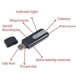 Resigilat! Stick USB iUni SpyCam STK102 cu Camera Spy si Senzor de Miscare