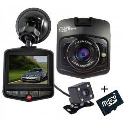 Camera auto Dubla iUni Dash 806, Full HD, 2.5 Inch, 170 grade, Parking monitor, G senzor, Black + Card 16GB