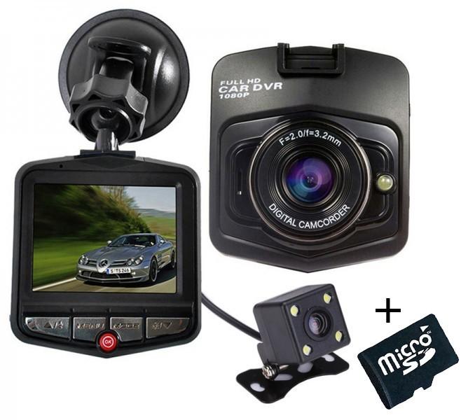 Camera auto Dubla iUni Dash 806, Full HD, 2.5 Inch, 170 grade, Parking monitor, G senzor, Black + Card 16GB imagine techstar.ro 2021