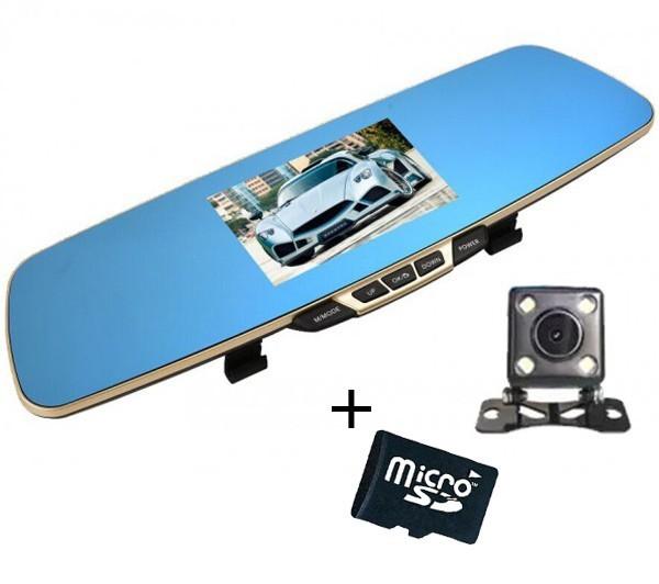 Camera Auto iUni Dash B600 Oglinda, Dual Cam, Full HD, LCD 4,3 inch, Foto, Playback + Card 16GB Cadou imagine techstar.ro 2021