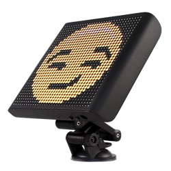 Display Emoji Techstar® Smart cu LED, Controlabil din Aplicatie Bluetooth Android & iOS, Multiple Animatii