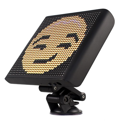 Display Emoji Techstar® Smart cu LED, Controlabil din Aplicatie Bluetooth Android & iOS, Multiple Animatii imagine techstar.ro 2021