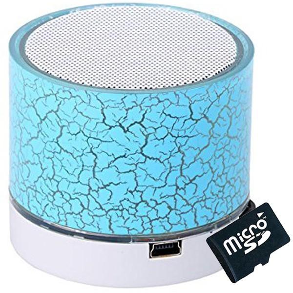 Boxa Portabila Bluetooth iUni DF08, Card 4Gb Cadou, Aluminiu, Blue imagine techstar.ro 2021