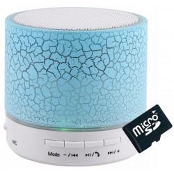 Boxa Portabila Bluetooth iUni DF09, Big Size, Radio, Aluminiu, Albastru + Card 4GB Cadou