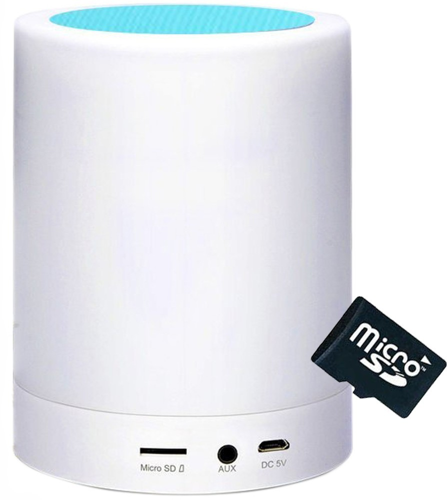 Boxa Portabila cu Lampa Bluetooth iUni M16, Multicolor, Blue + Card 4GB Cadou imagine
