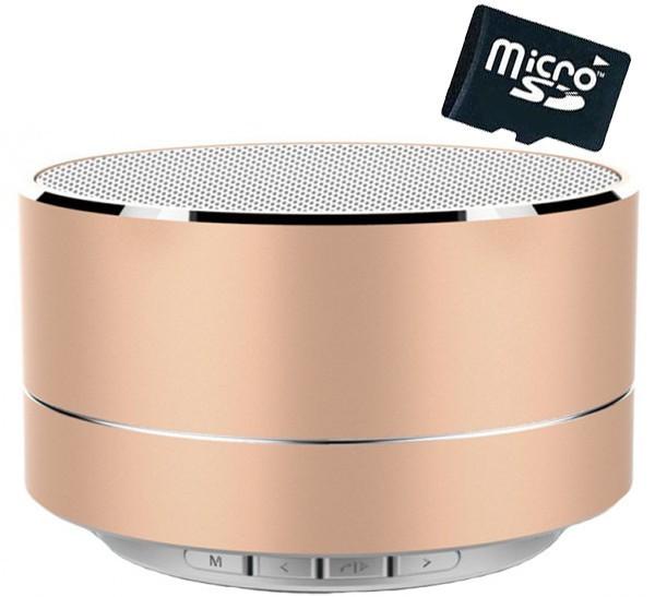Boxa Portabila Bluetooth iUni DF11, Radio, Aluminiu, Gold + Card 4GB Cadou imagine techstar.ro 2021