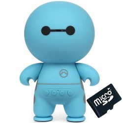 Boxa Portabila Bluetooth iUni DF13, Radio, 500 mAh, Blue + Card 4GB Cadou
