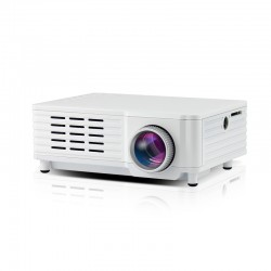 Videoproiector Mini Portabil cu Led ML205 White cu Audio Incorporat Compatibil HDMI, USB, SD si TV