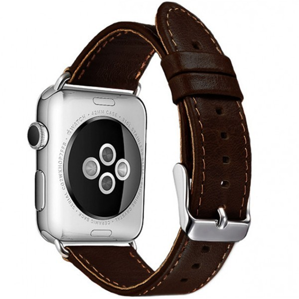 Curea pentru Apple Watch 38 mm piele iUni Vintage Dark Coffee imagine techstar.ro 2021