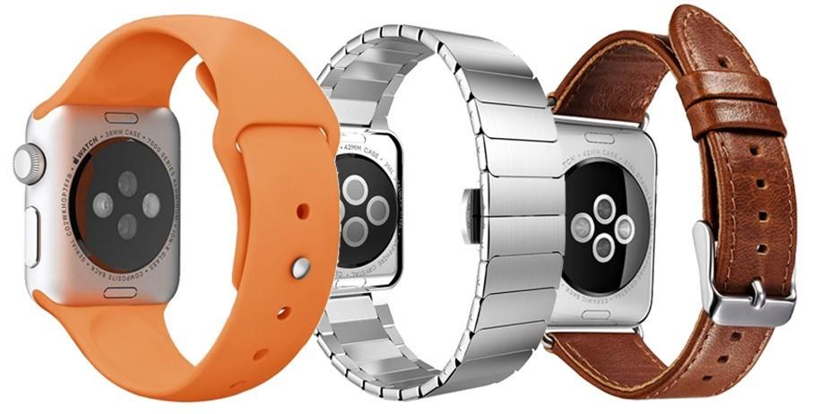 Set 2+1 Gratis, Curele Apple Watch iUni 38 mm Piele Brown, Otel Inoxidabil Silver Bracelet, Silicon Orange imagine techstar.ro 2021