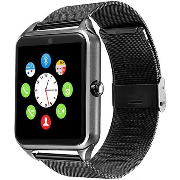 Ceas Smartwatch cu Telefon iUni Z60, Curea Metalica, Touchscreen, BT, Camera, Notificari, Aluminiu