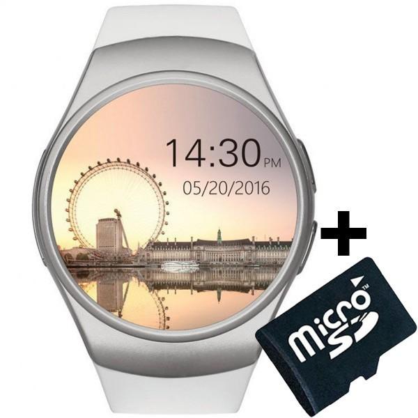 Ceas Smartwatch cu Telefon iUni KW18, Touchscreen 1.3', Notificari, iOS, Android, White + Card 4GB imagine techstar.ro 2021