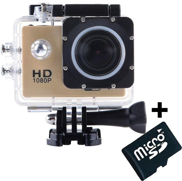 Camera Sport iUni Dare 50i HD 1080P, 12M, Waterproof, Auriu + Card MicroSD 8GB Cadou imagine techstar.ro 2021