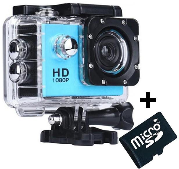 Camera Sport iUni Dare 50i HD 1080P, 12M, Waterproof, Albastru + Card MicroSD 8GB Cadou imagine techstar.ro 2021