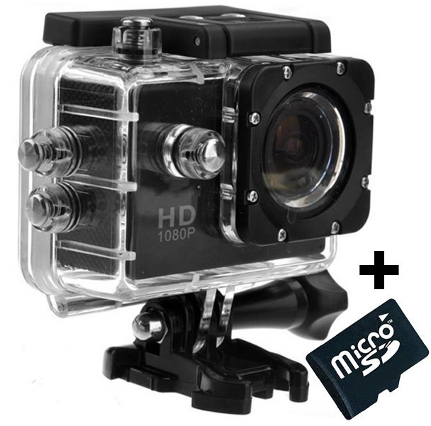 Camera Sport Iuni Dare 50i Hd 1080p, 12m, Waterproof, Negru + Card Microsd 8gb Cadou