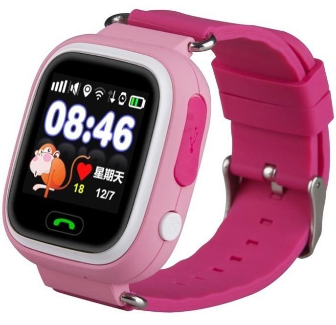 Ceas GPS Copii iUni Kid100, Touchscreen, BT, Telefon incorporat, Buton SOS, Roz imagine techstar.ro 2021