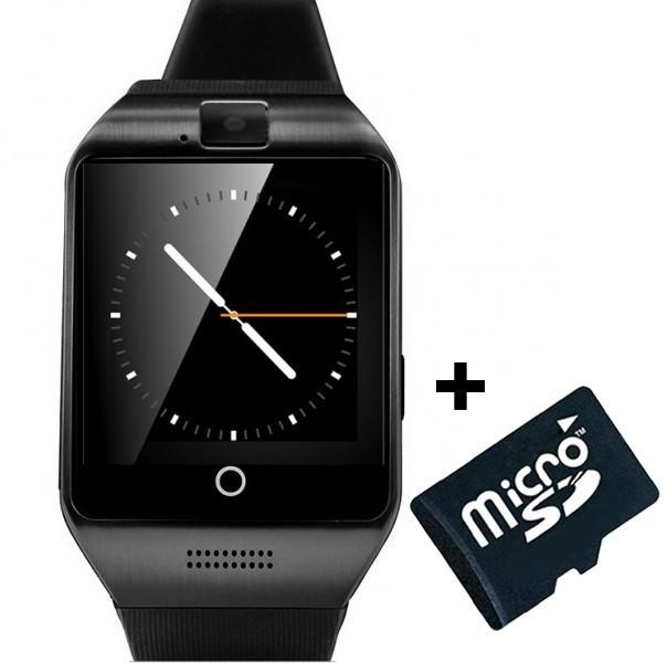 Smartwatch cu telefon iUni Apro U16, Camera, BT, 1,5 inch, Negru + Card MicroSD 4GB Cadou