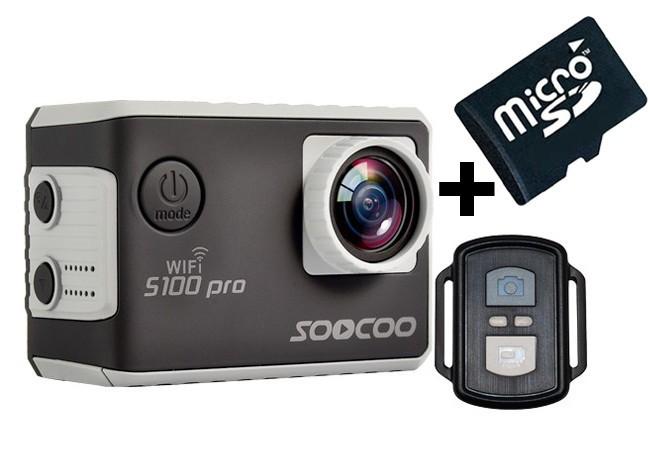 Camera Video Sport 4K iUni Dare S100 Pro Black, WiFi, mini HDMI, 2 inch LCD + Card MicroSD 16GB imagine techstar.ro 2021