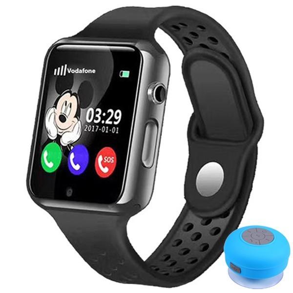 Ceas cu GPS Copii iUni Kid98, Telefon incorporat, Touchscreen 1.54 inch, Bluetooth, Notificari, Camera, Negru + Boxa Cadou imagine techstar.ro 2021