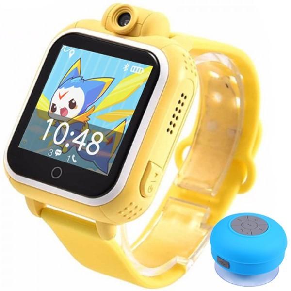 Ceas GPS Copii, iUni Kid730, 3G, DIGI Mobil, Touchscreen, GPS, LBS, Wi-Fi, Camera, buton SOS, Galben + Boxa Cadou imagine techstar.ro 2021